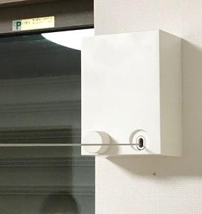 室内物干しワイヤー壁アンカー取付①