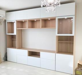 TV収納棚IKEAアンカー付け